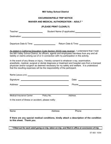 Six Flags Trip Waiver FormPdf  The Dalton School