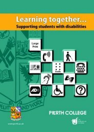 Disability Leaflet - Perth College
