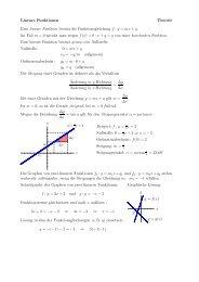 Lineare Funktionen Theorie Eine lineare Funktion besitzt ... - gxy.ch
