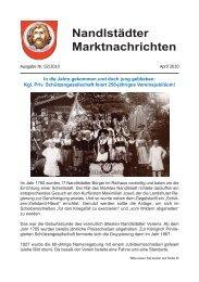 Nandlstädter Marktnachrichten - Markt Nandlstadt