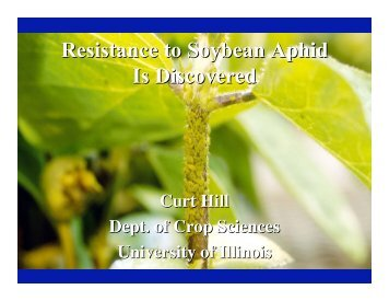 Resistance to Soybean Aphid Is Discovered - Department of ...