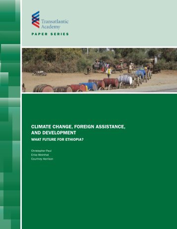 climate change, foreign assistance, and development - Transatlantic ...