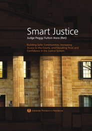 Smart Justice Thinkers in Residence - Judge Peggy Fulton Hora