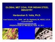 Global Metallurgical Coal for Indian Steel Industry - IIM