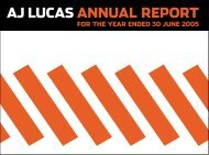 AJ Lucas Group Limited Annual Report 2005