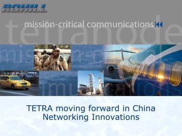 Networking innovations Bert Bouwers - Tetra