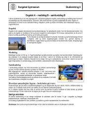 Rungsted Gymnasium Studieretning 8 Engelsk A – mediefag B ...