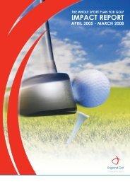 IMPACT REPORT - England Golf Partnership