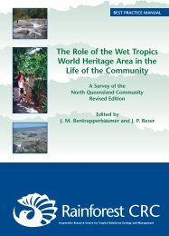 The Role of the Wet Tropics World Heritage Area in the Life of the ...