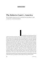 The Roberts Court v. America - American Antitrust Institute