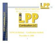 LPP Combustion, LLCLPP Combustion, LLC SYNGAS Refiner ...