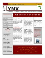 Winter 2013 Newsletter - Aboriginal Lynx