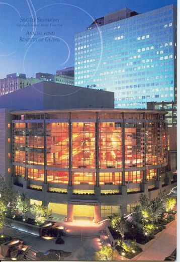 Seattle Symphony Annual Fund Brochure - Major Giving Initiative