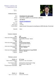 Curriculum - Comune di Messina