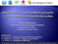 Masahiro Watanabe Atmosphere & Ocean Research Institute ...