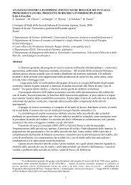 primi risultati del progetto di ricerca interdisciplinare E - Equizoobio.