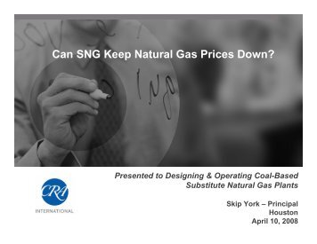Can SNG Keep Natural Gas Prices Down?