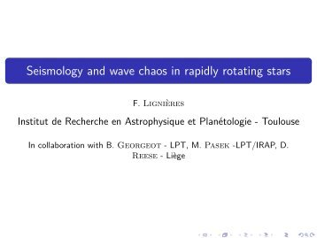 Seismology and wave chaos in rapidly rotating stars