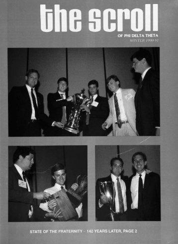 1990–91 Volume 114 No 1–4 - Phi Delta Theta Scroll Archive