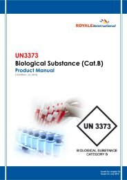 UN3373 Biological Substance (Cat.B) - Royale International Group
