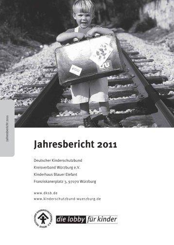 Jahresbericht 2011 - Deutscher Kinderschutzbund Kreisverband ...