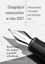 Komentarz CKE do matury 2007