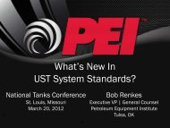 What's New In UST System Standards? - NEIWPCC
