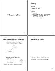 15. Parametric surfaces Reading Mathematical surface ...