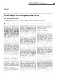 Trends in global semen parameter values - Asian Journal of Andrology