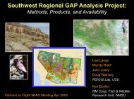 Southwest Regional GAP Analysis Project
