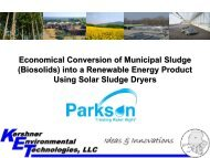 into a Renewable Energy Product Using Solar Sludge Dryers