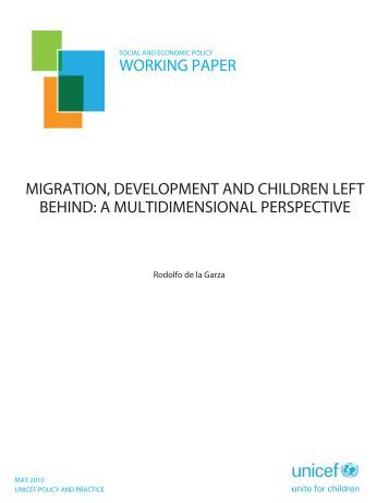 Migration, Development and Children Left Behind - Global Migration ...