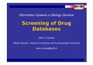 Screening of Drug Databases - LSIR - EPFL
