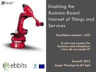 Enabling the Business-Based Internet of Things and Services - InfinIT