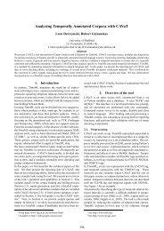 Analysing Temporally Annotated Corpora with ... - Leon Derczynski