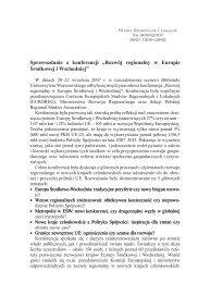 """Sprawozdanie z konferencji """"Rozwój regionalny w Europie ..."""