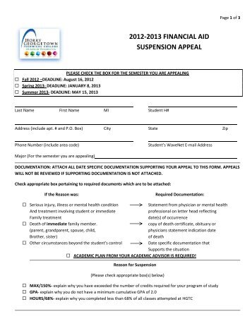 Financial Aid Appeal Request Form - Miss Porter's School