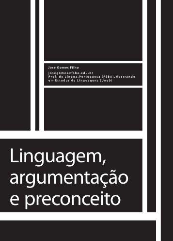 Linguagem, argumentação e preconceito - Faculdade Social