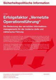 "Erfolgsfaktor ""Vernetzte Operationsführung"" - VSWW"