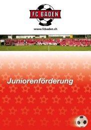 Broschüre Juniorenförderung