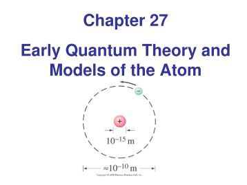 Researches on the quantum theory