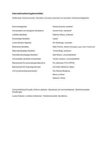 Se förteckningar för läsåret 2013/2014 (pdf, ny ... - Lunds universitet