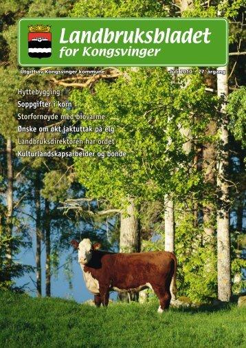 Landbruksbladet 2010 - Kongsvinger Kommune