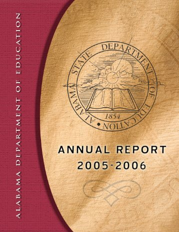 2006 SDE Annual Report - Alabama Department of Education