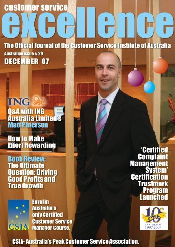 Issue 29 - Customer Service Institute of Australia
