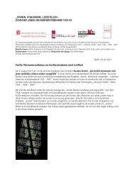 Pressemitteilung - Museum Charlottenburg-Wilmersdorf