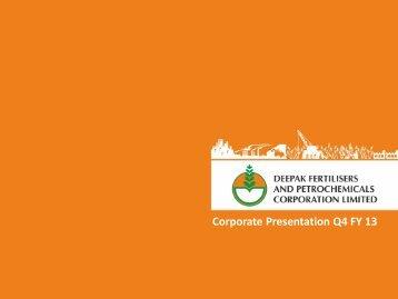 DFPCL Corporate Presentation for Fourth Quarter 2013 - Deepak ...