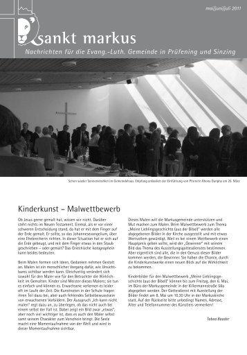 Nachrichten für die Evang.-Luth. Gemeinde in Prüfening und Sinzing