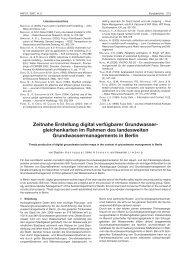 Zeitnahe Erstellung digital verfügbarer Grundwasser ... - hydor.de