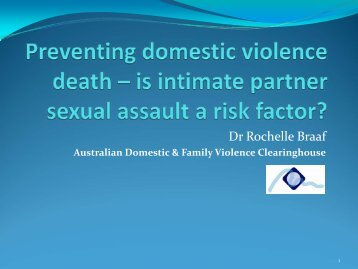 Preventing domestic violence death – is intimate partner sexual ...